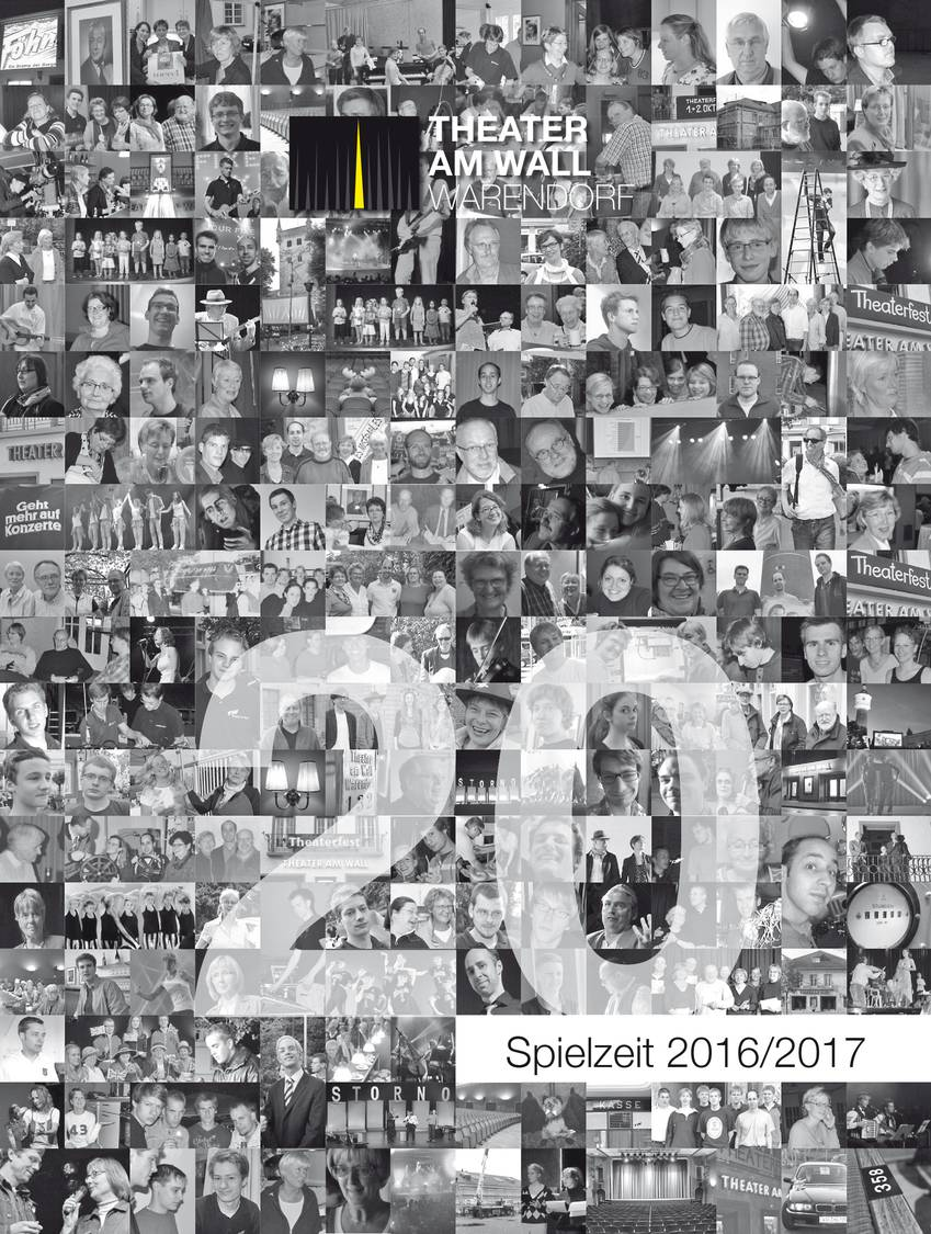 Cover Programmheft Spielzeit 2016/2017 © Theater am Wall e. V.